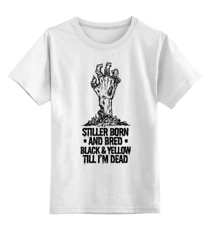 Купить 0000000732045, Детская футболка Printio Steeler зомби цв.белый р.140,