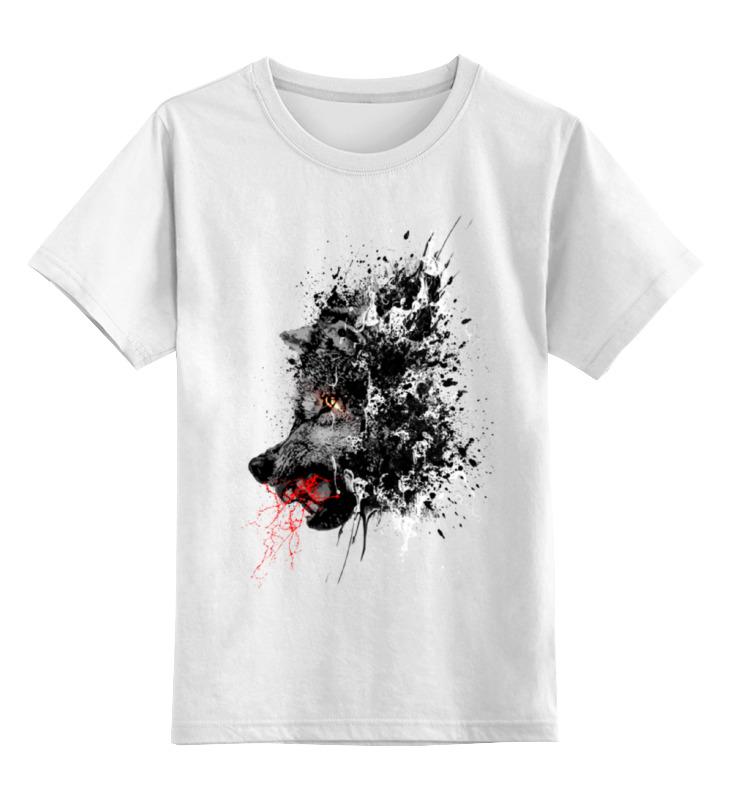 Детская футболка Printio Кровавый оскал цв.белый р.140 0000000728240 по цене 790