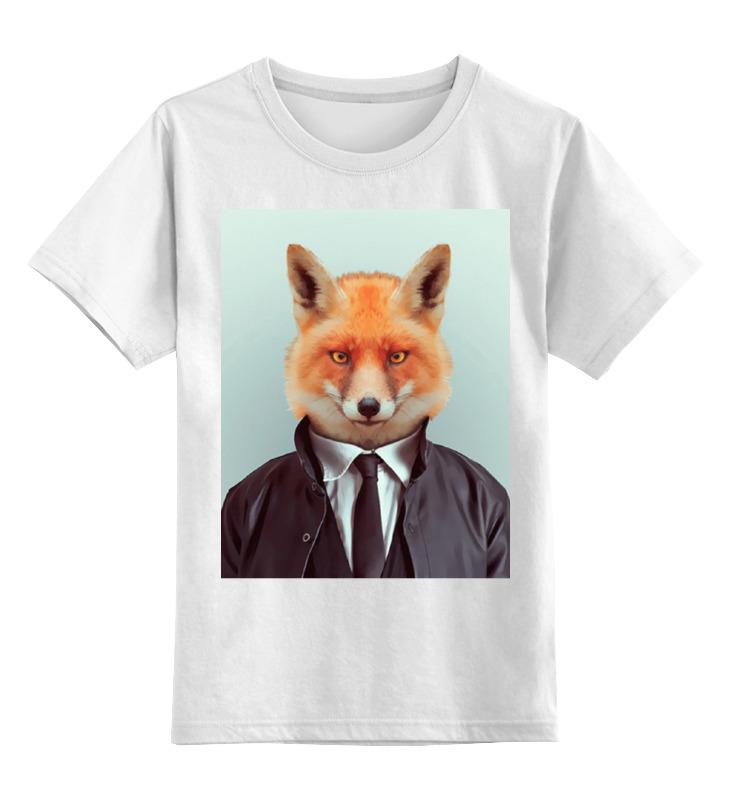 Детская футболка Printio Деловой лис цв.белый р.152 0000000721110 по цене 790