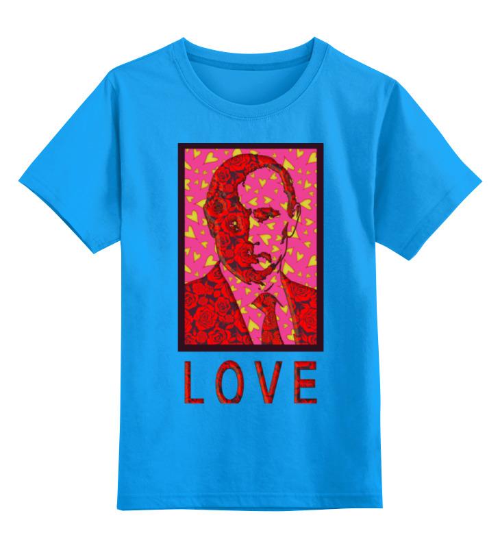Купить 0000000721028, Детская футболка Printio Valenputin цв.голубой р.152,