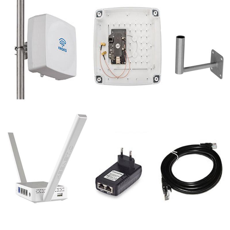 Усилитель интернет сигнала Крокс модем Huawei E3372 с антенной КАА15-1700/2700 UBOX