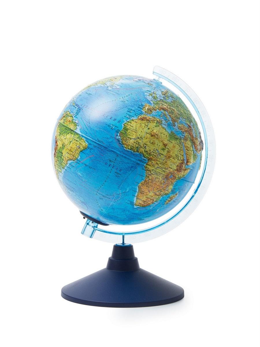 Globen Глобус физико-политический, рельефный с подсветкой от батареек d210, Ве022100253
