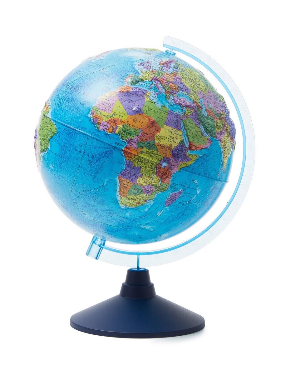 Globen Глобус мира политический рельефный с подсветкой от батареек d250, Ве022500259