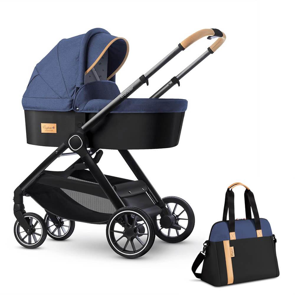 Коляска для новорожденных Esspero Traveler + сумка