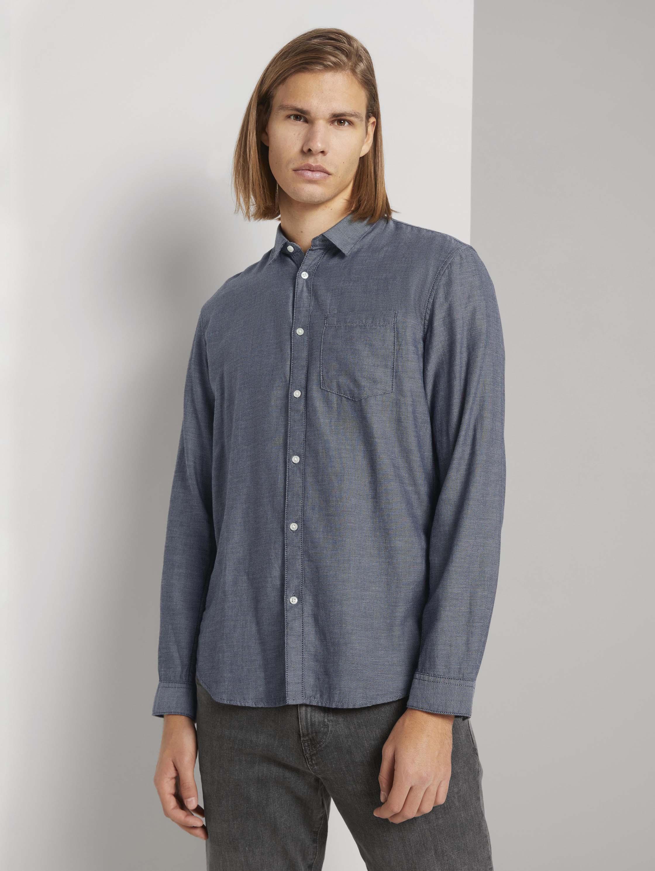 Рубашка мужская TOM TAILOR 1023839 синяя L
