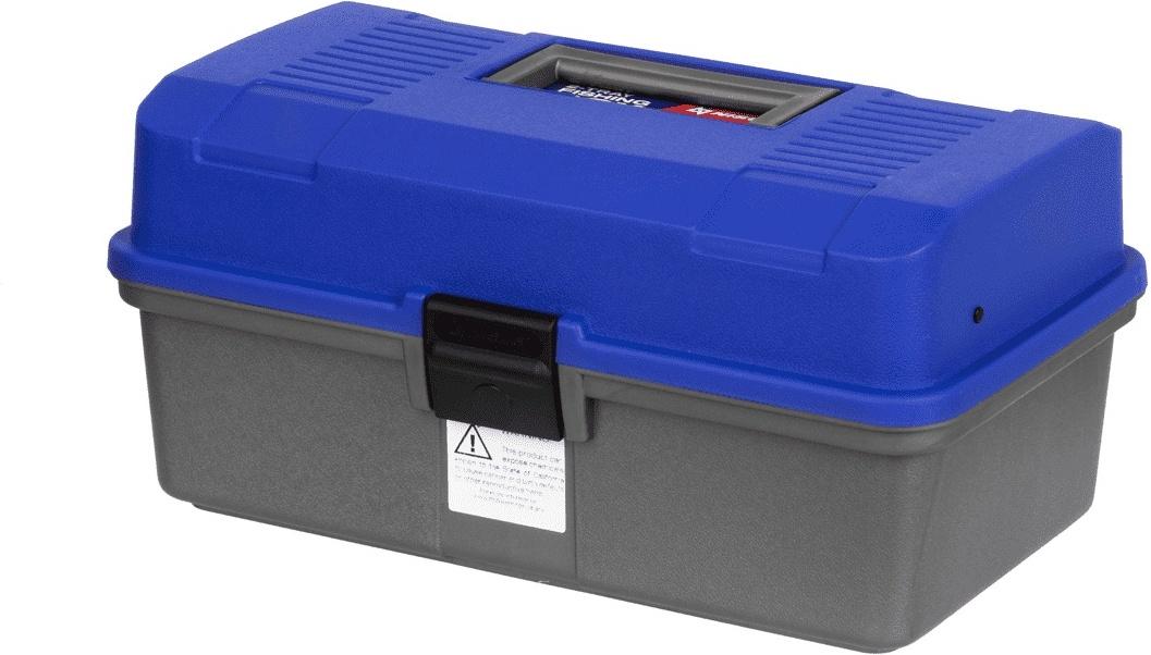 Fishing 2-tray box NISUS blue (N-FB-2-B)/ Ящик рыболова двухполочный синий NISUS