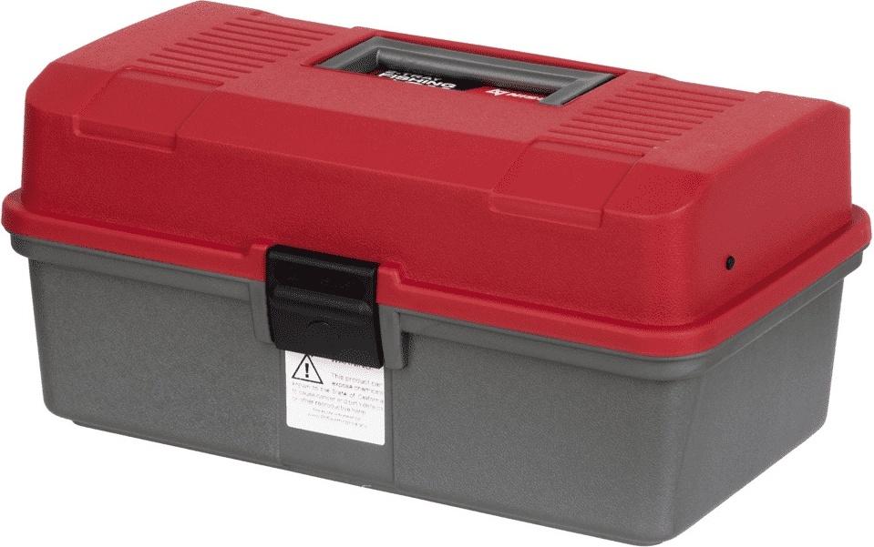 Fishing 2-tray box NISUS red (N-FB-2-R)/ Ящик рыболова двухполочный красный NISUS