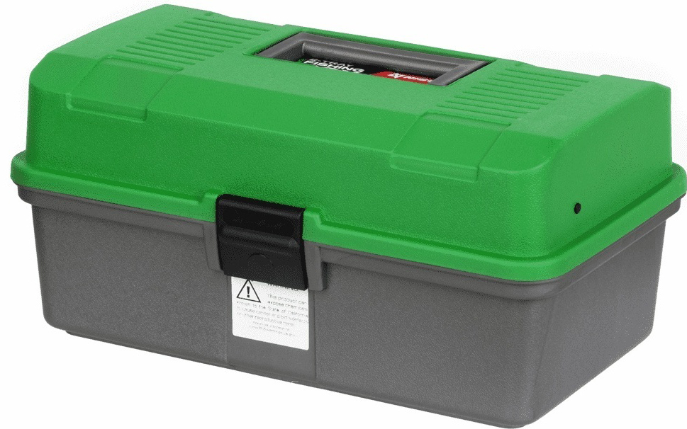 Fishing 2-tray box NISUS green (N-FB-2-G)/ Ящик рыболова двухполочный зеленый NISUS