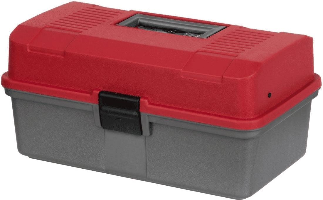 Ящик рыболова двухполочный красный Helios
