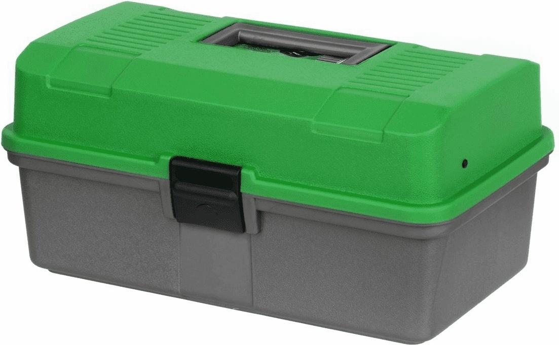 Ящик рыболова двухполочный зеленый Helios