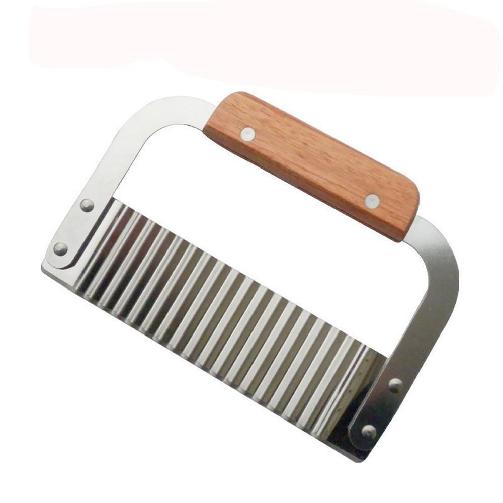 Нож с деревянной ручкой для фигурной нарезки
