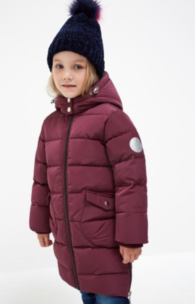Куртка детская для девочек Acoola Karolin цв. вишневый, р. 98 20220130150