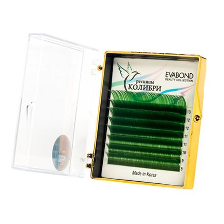 Купить Накладные ресницы EVABOND Ресницы на ленте «Колибри», D=0, 10, D-изгиб, зеленые