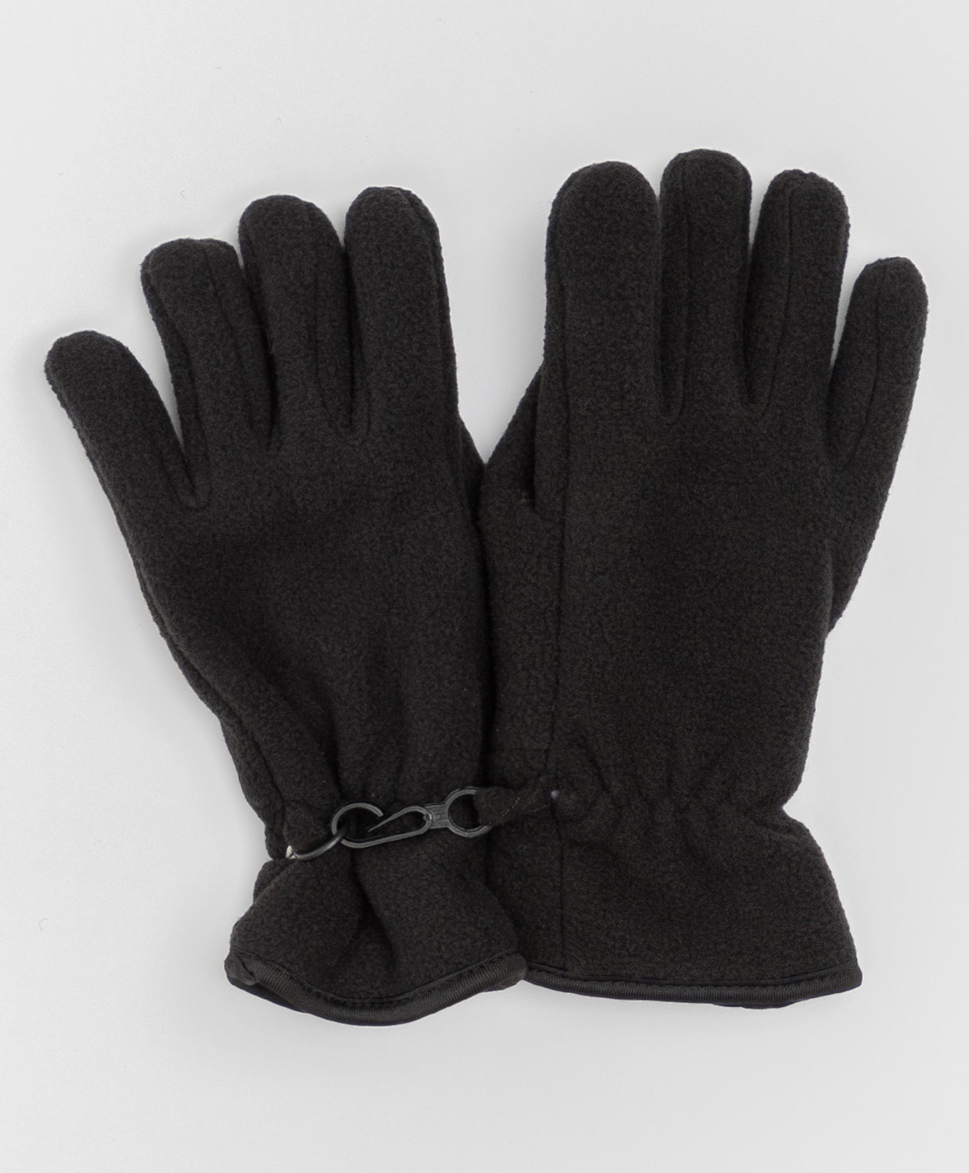 Черные флисовые перчатки Button Blue 220BBBA76010800, размер 12