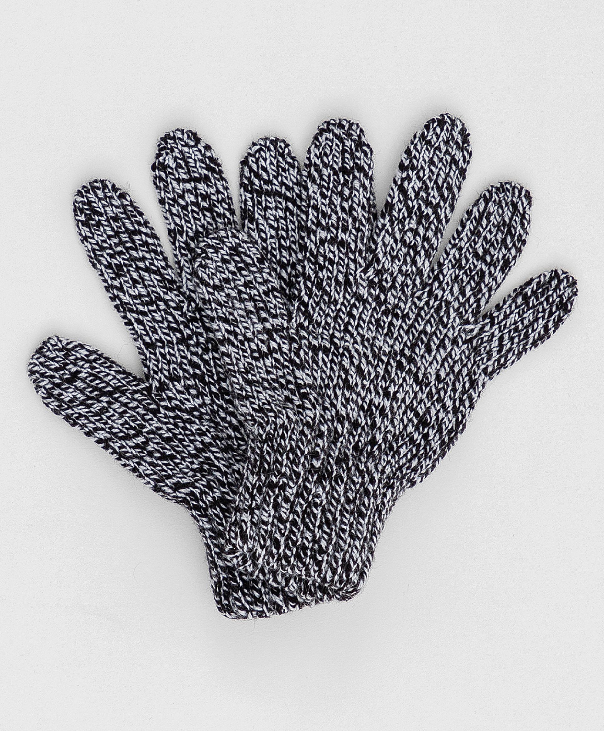 Серые вязаные перчатки Button Blue 220BBGMX76011900, размер 14