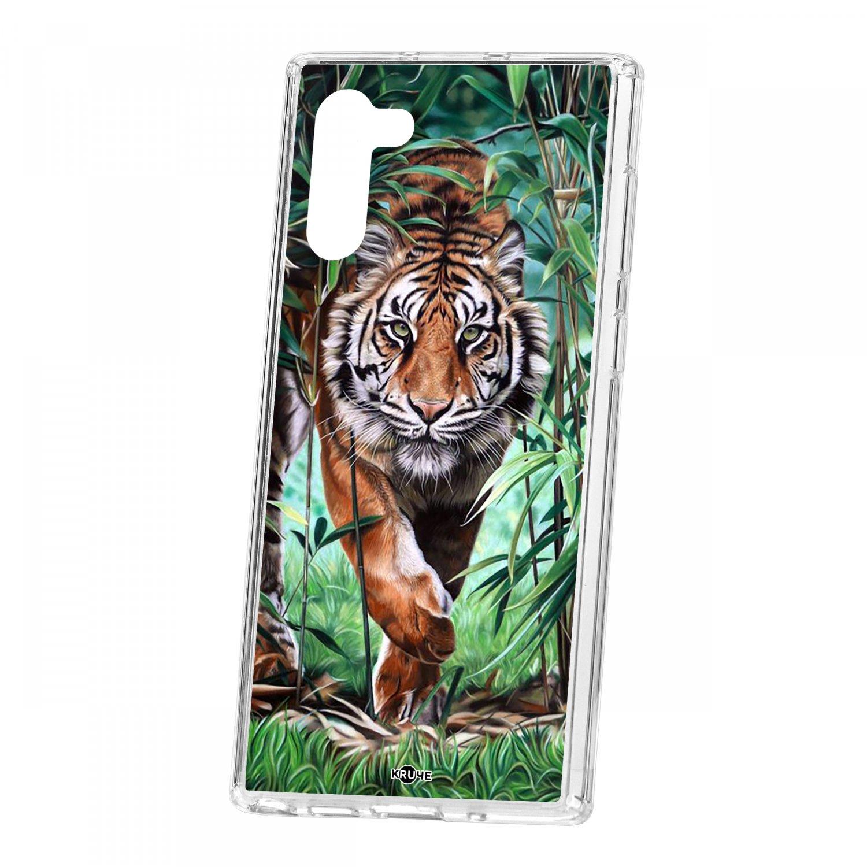 Чехол Kruche для Samsung Galaxy Note 10 Print Крадущийся тигр КRUЧЕ
