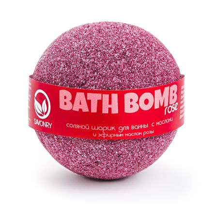 Купить Бурлящий шарик для ванны Savonry, Rose, 100 г