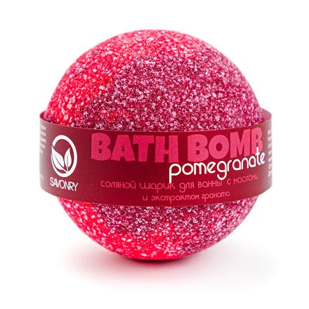 Купить Бурлящий шарик для ванны Savonry, Pomegranate, 100 г