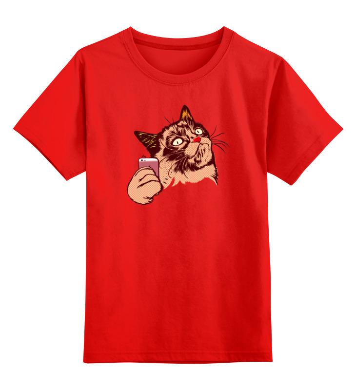 Детская футболка Printio Селфи цв.красный р.164 0000000721434 по цене 990