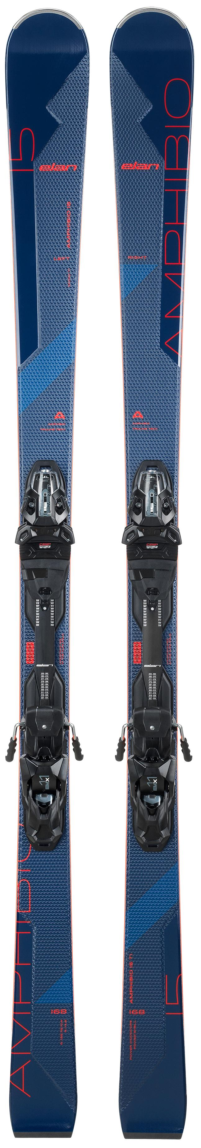 Горные лыжи Elan Amphibio 15 Ti Fx + Emx 11.0 2021, blue, 160 см, Amphibio 15 Ti Fx + Emx 11.0