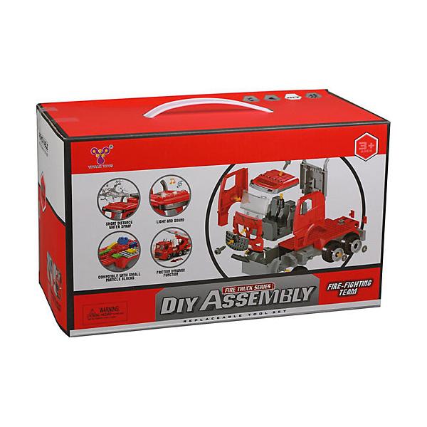 Конструктор-скрутка Наша игрушка инерционная машина, 74 детали,  - купить со скидкой