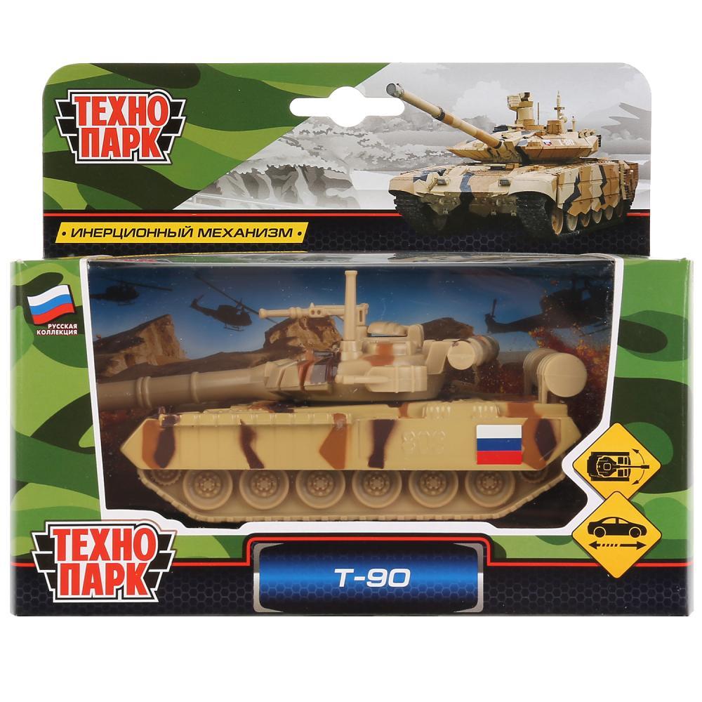Игрушка Технопарк Танк металлический, инерционный Т-90, 12 см