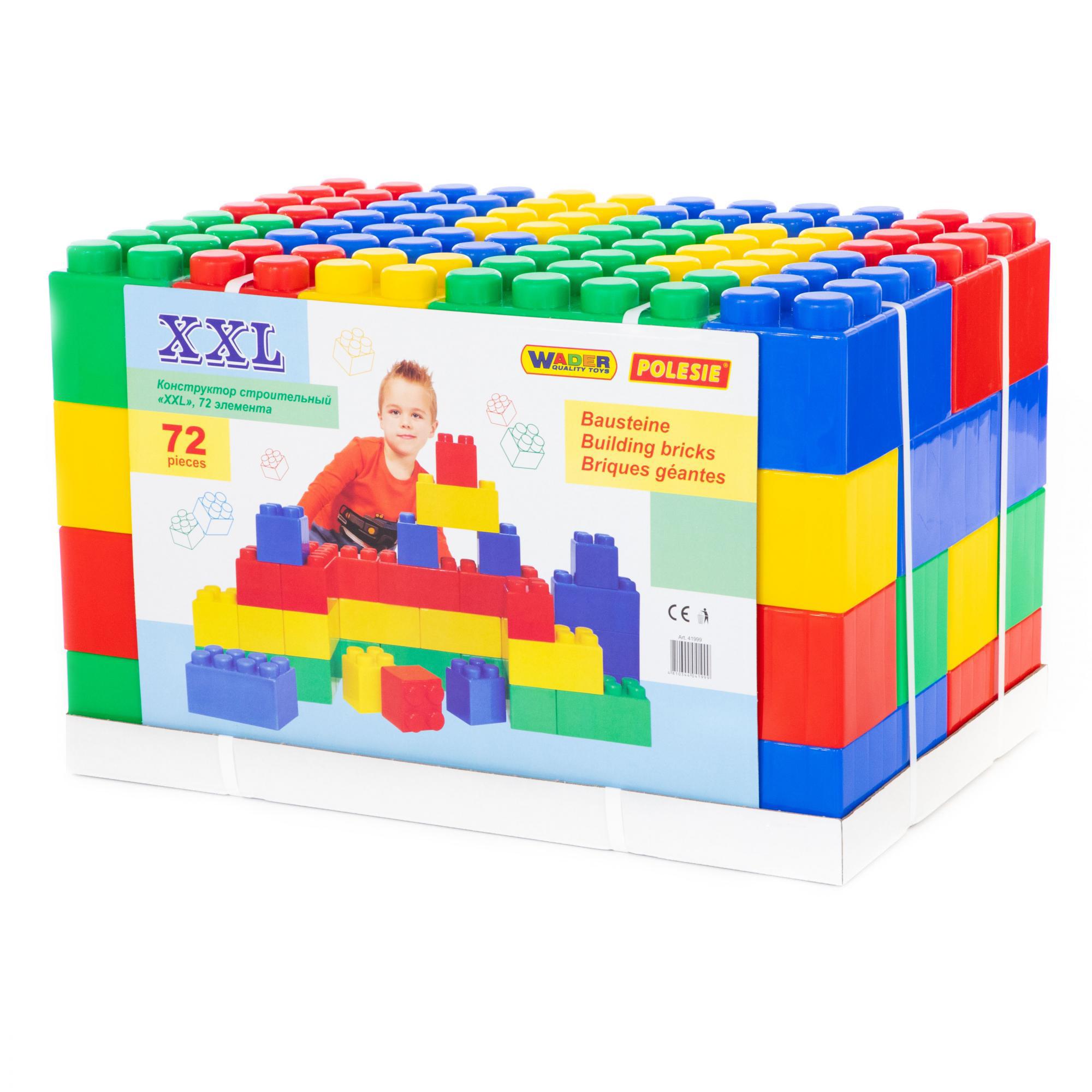 Конструктор Полесье строительный XXL, 72 элемента