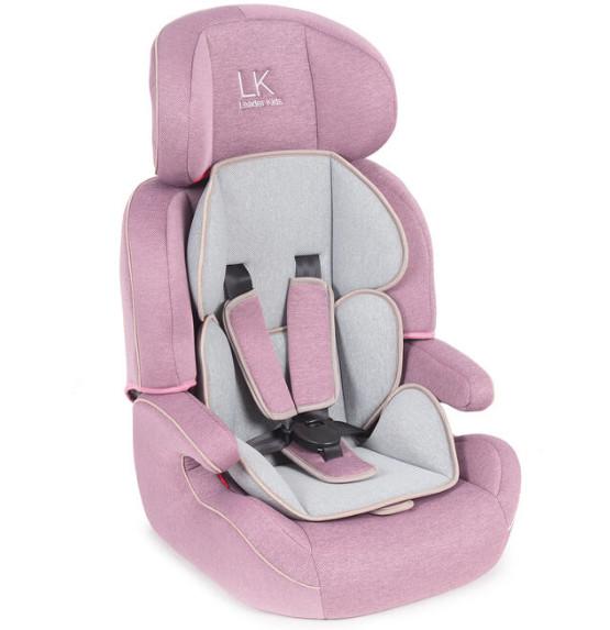 Автокресло Leader kids City travel denim цвет: розовый, серый, 9-36 кг