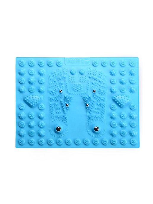 Купить Массажный модульный коврик с магнитами 29*39 см Голубой, Family Shop