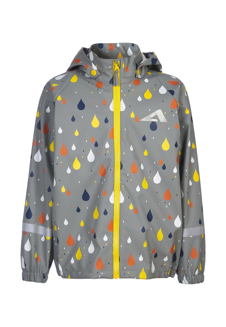 Куртка дождевик для девочек OLDOS, цв. серый,