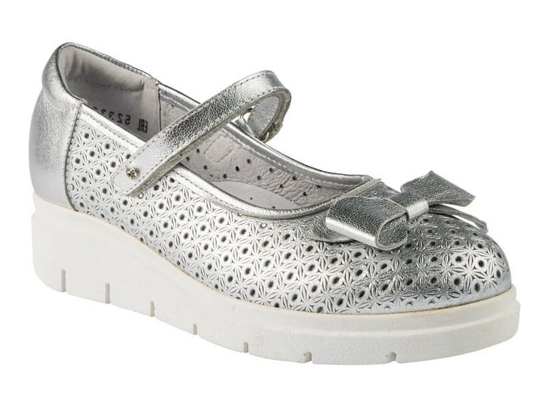 Купить 5-523322107, Туфли ELEGAMI школьные для девочки серебряные р.34 5-523р.322107,