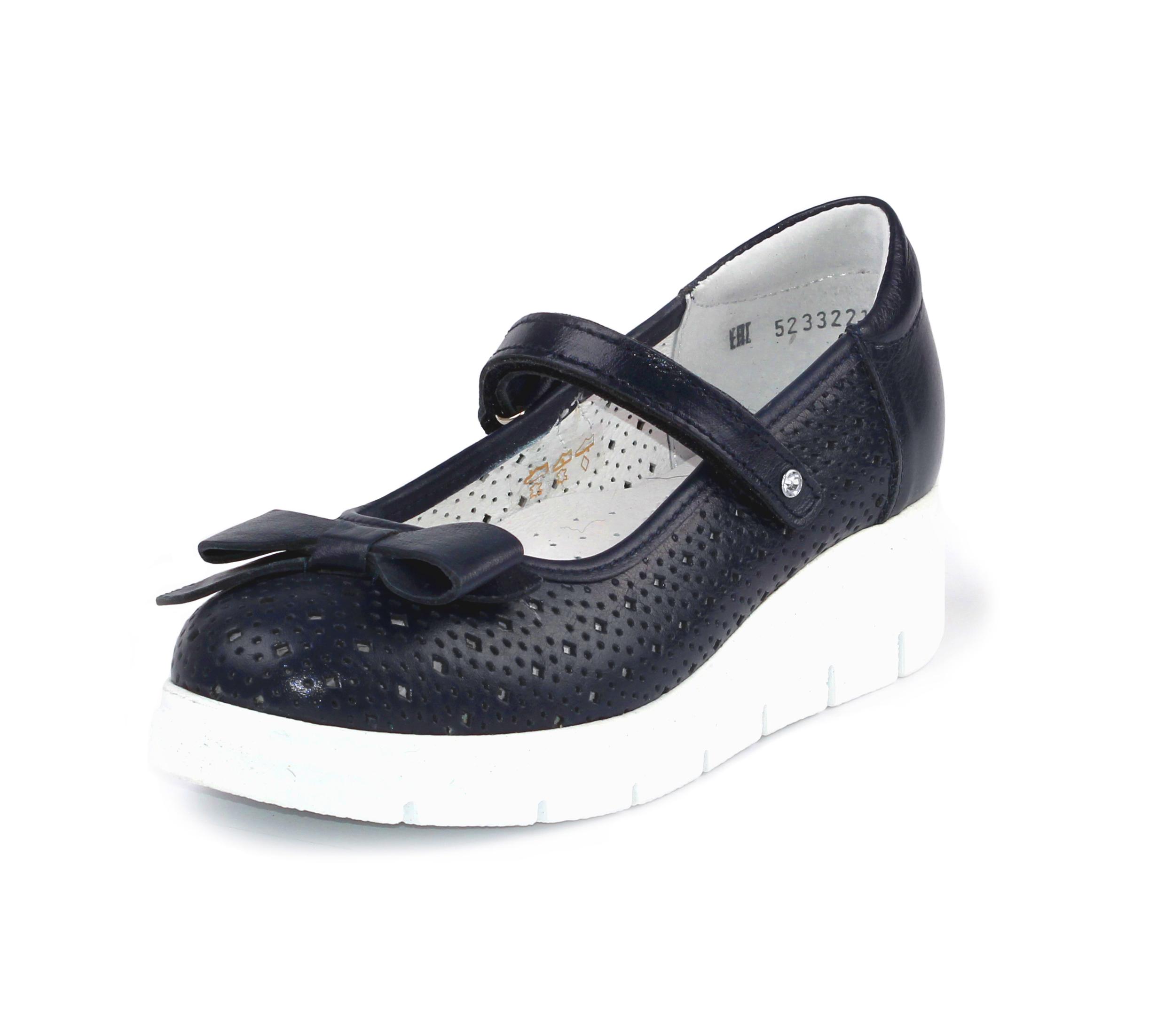 Купить 5-523322105, Туфли ELEGAMI школьные для девочки т-синие р.34 5-523р.322105,