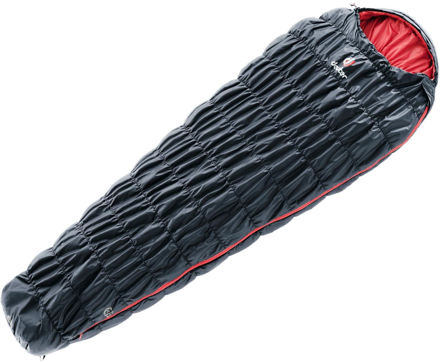 Спальный мешок Deuter Exosphere black/fire, левый