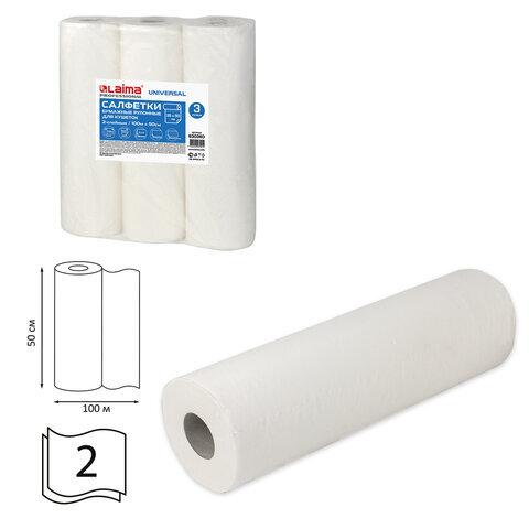 Простыни бумажные рулонные с перфорацией LAIMA UNIVERSAL