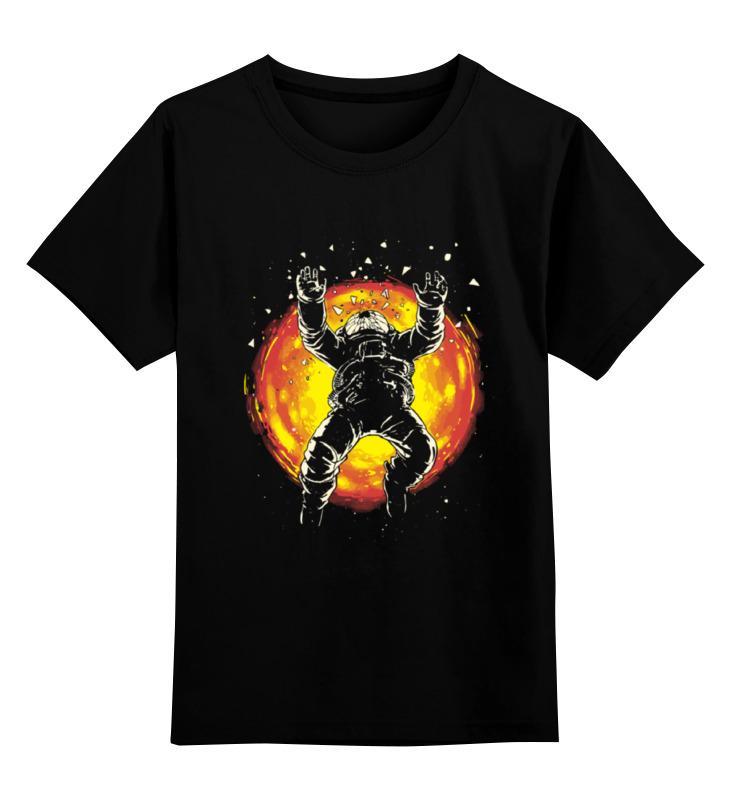 Детская футболка Printio Космонавт хьюстон у нас проблемма цв.черный р.116 0000000723957 по цене 990