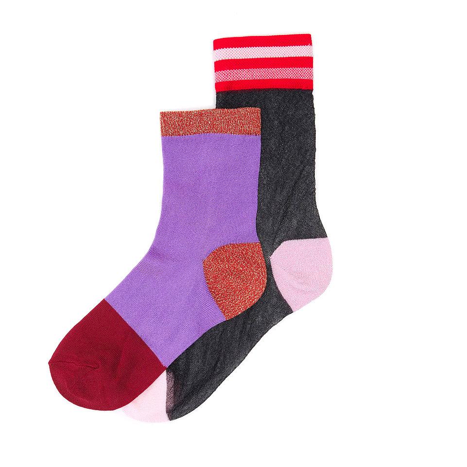 Набор носков женских Hysteria Hysteria_2_Pack_Stella разноцветных 39-41