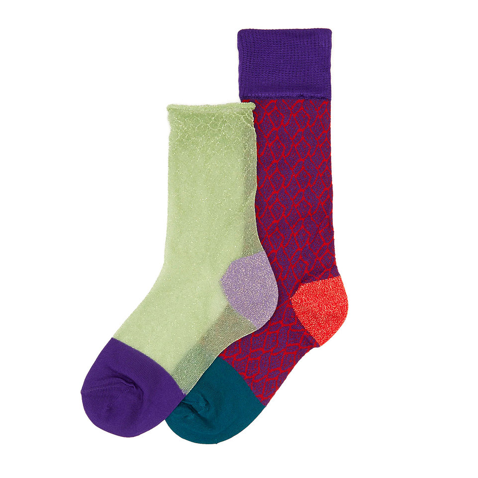 Набор носков женских Hysteria Hysteria_2_Pack_Freja разноцветных 36-38
