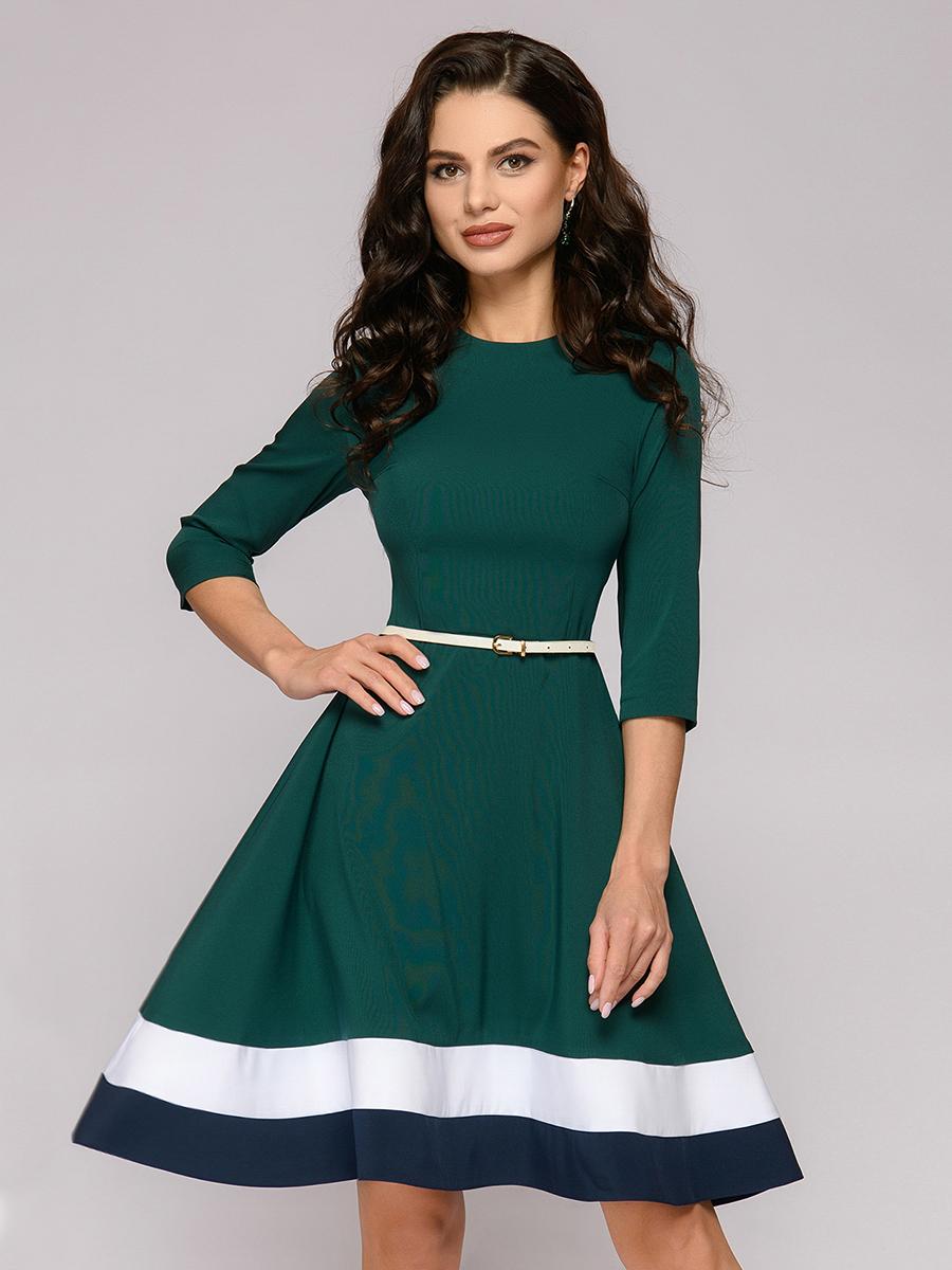 Платье женское 1001dress DM01449EM зеленое 42
