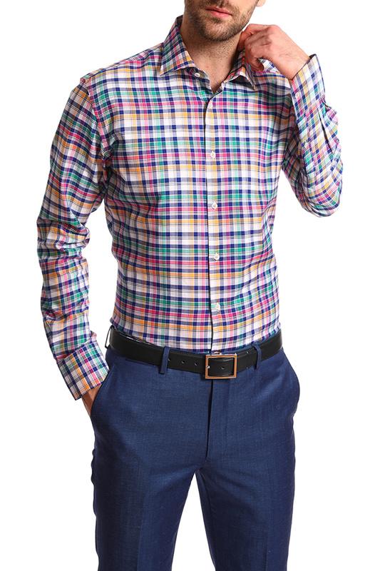 Рубашка мужская Kanzler 20S-SW05S2LSN/03-3 синяя 46