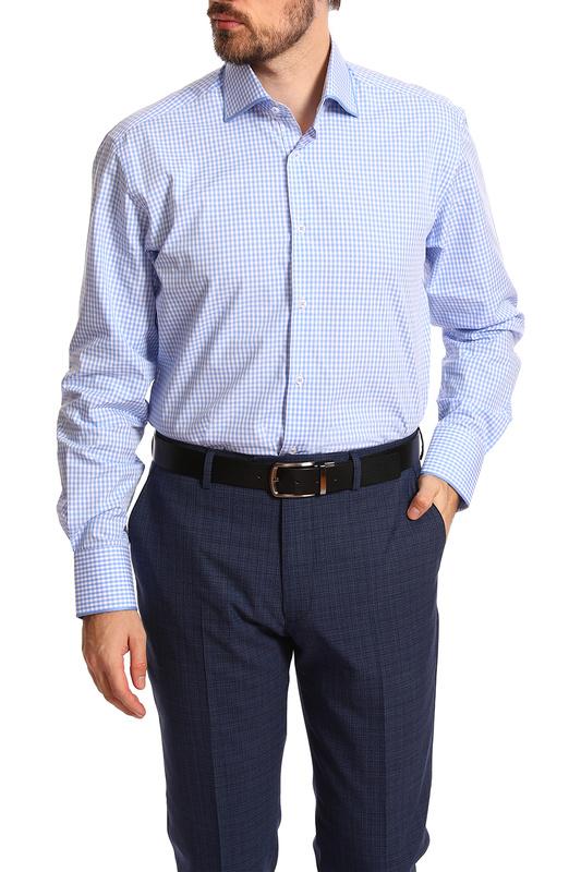 Рубашка мужская Kanzler 20S-SBL05RLSN/02-3 голубая 56