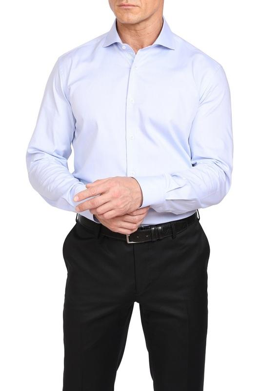 Рубашка мужская Kanzler 19W-SBL05SLSN/02 голубая 54