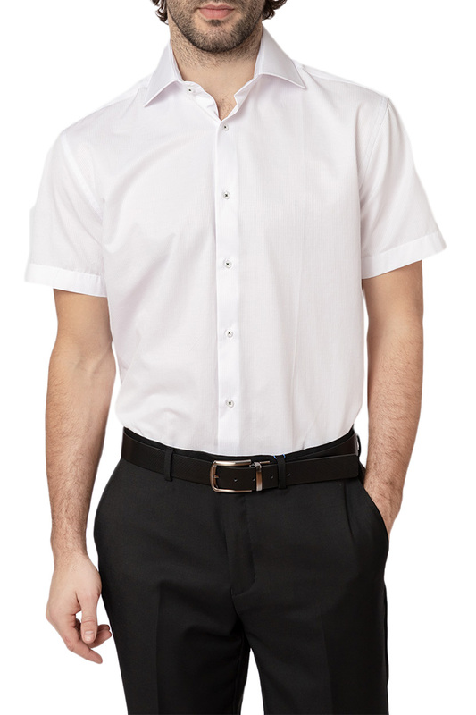 Рубашка мужская HOFFSTEIN 19S-SH32RSS/01-1 белая 54