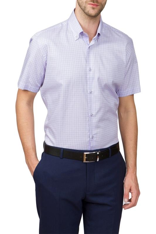 Рубашка мужская Kanzler 17S-SBL31SSS/05-3 фиолетовая 46