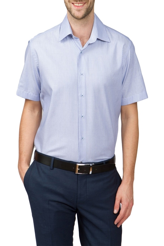 Рубашка мужская Kanzler 17S-SBL29CSS/02-4 голубая 50