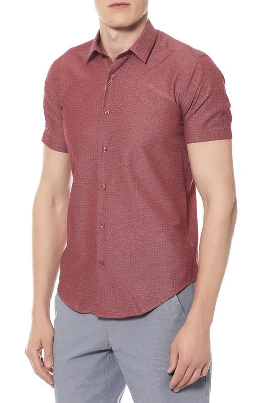 Рубашка мужская Van Cliff 14855 красная 46