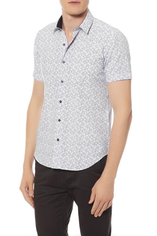 Рубашка мужская Van Cliff 14835 голубая 48