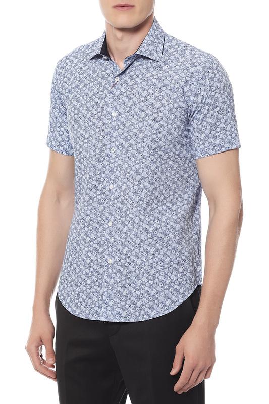 Рубашка мужская Van Cliff 14832 голубая 46