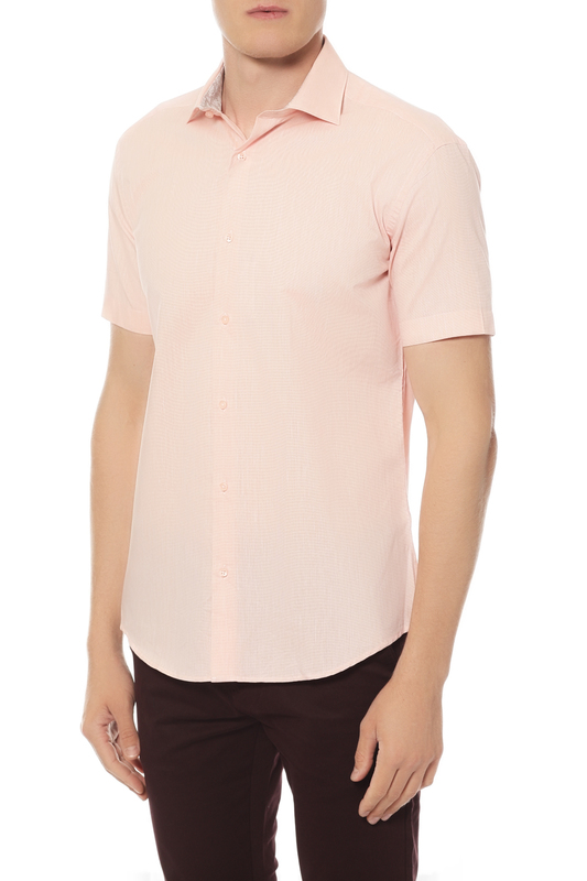 Рубашка мужская Van Cliff 14473 розовая 48