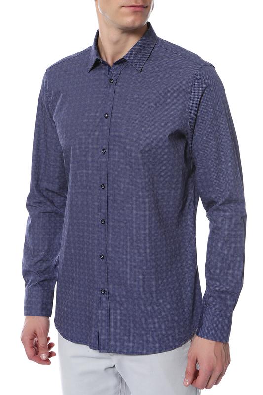 Рубашка мужская Digel 1257044/20/АУРЕЛЬ 1/1 синяя 50