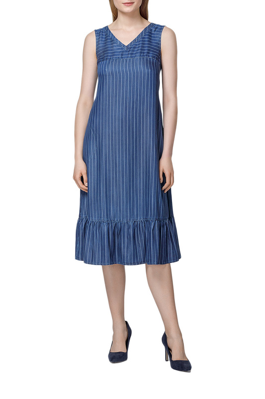 Платье женское Helmidge 7255 синее 50